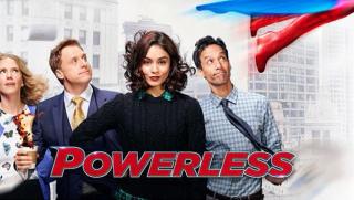 Powerles logo - NBC / Warner / DC Comics