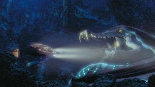 Ryba Colo Claw - Dryden Vos proponuje Hanowi i spółce ten przysmak. Gigantyczna ryba pochodzi z Naboo i widzieliśmy ją w jednej ze scen Mrocznego Widma
