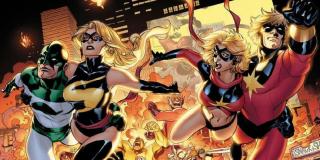 W komiksach dla Carol Danvers istotny staje się wątek kryzysu tożsamości; jest on związany zarówno z jej przeszłością, jak i faktem, że na przestrzeni czasu czterokrotnie zmieniano jej superbohaterskie alter ego