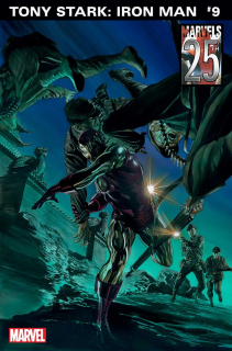 Tony Stark: Iron Man #9 - wariant okładki