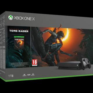 Konsola Xbox One X z dyskiem twardym 1TB i grą Shadow of the Tomb Raider – 1699 zł