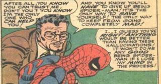 Psychiatra Mysterio - w trakcie terapii złoczyńca odebrał Pajączkowi wspomnienia z walk z wrogami, przez co ten zaczął powątpiewać w sens działania jako superbohater