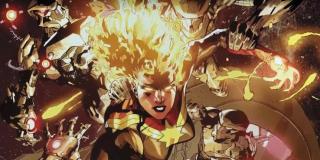 Generowanie ciepła - po wchłonięciu odpowiedniej ilości energii Kapitan Marvel może dowolnie zmieniać temperaturę w swoim otoczeniu