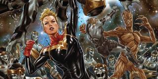 Jedyna w swoim rodzaju odporność - w trakcie eventu Secret Empire Carol zdołała odeprzeć ataki niezliczonej hordy Chitauri, choć raz po raz otrzymywała kolejne ciosy