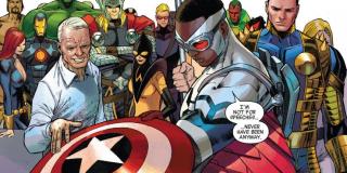 Steve Rogers w komiksach również przekazał tarczę i tytuł Kapitana Ameryki Samowi Wilsonowi (Falconowi). Tutaj także był on staruszkiem, z którego ciała zostało usunięte serum superżołnierza.