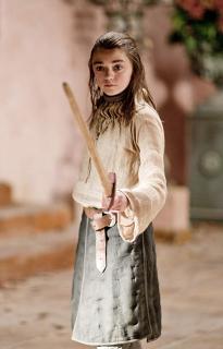 Maisie Williams w 1. sezonie Gry o tron