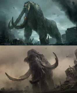 Godzilla 2: Król potworów - szkic koncepcyjny Behemotha