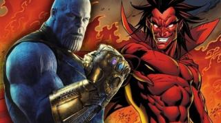 Thanos w trakcie dotychczasowych faz MCU współpracował z Mefisto – odwrócenie skutków pstryknięcia pozbawiło więc Marvelowskiego odpowiednika Szatana większej potęgi, którą uzyskał po wchłonięciu energii z wymazanych postaci. Ostatecznie to zemsta Mefisto okaże się determinować całą 4. fazę projektu.