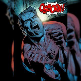 Norman Osborn wiąże się z Gwen Stacy, a ta rodzi mu bliźniaki; dziewczyna chce je wychować z Peterem Parkerem, jednak Osborn zabija Stacy (Sins Past)