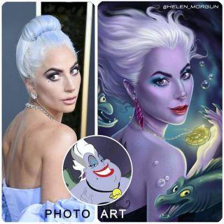 Lady Gaga jako Ursula z Małej syrenki