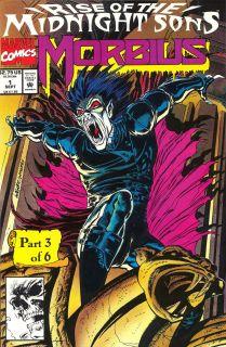 """W latach 70. Morbius pojawiał się także w """"Vampire Tales"""", czarno-białej serii komiksowej siostrzanej firmy Marvela, Curtis Magazines. Z kolei od lutego 1974 do grudnia 1975 postać ta miała własny wątek w wydawanej przez Dom Pomysłów antologii """"Adventure Into Fear"""". Popularność postaci malała jednak w tak szybkim tempie, że Morbius na prawie 16 lat zniknął z najważniejszych historii, a jego ekspozycja ograniczała się jedynie do gościnnych występów. Powrócił on dopiero w 1992 roku w serii """"Morbius the Living Vampire"""". To jej sukces i odżywająca w popkulturze na nowo moda na wampiry sprawiły, że Morbius awansował do panteonu najważniejszych postaci Marvela związanych z horrorem."""
