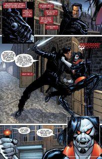 W czasie superbohaterskiej wojny domowej Morbius ujawnił swoją prawdziwą tożsamość na mocy nakazów Aktu Rejestracji. S.H.I.E.L.D. zaczęło mu wówczas ufać do tego stopnia, że wysłało go na poszukiwanie Blade'a. Morbius miał go nakłonić do ujawnienia swojej tożsamości.
