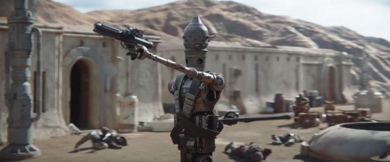 The Mandalorian - zdjęcia z planu. Tak wyglądał droid IG-11 bez CGI
