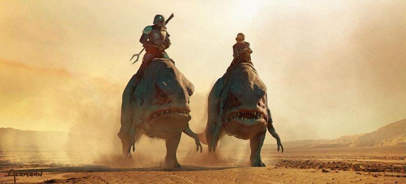 The Mandalorian - szkice koncepcyjne serialu. Świetne grafiki z pierwszych odcinków