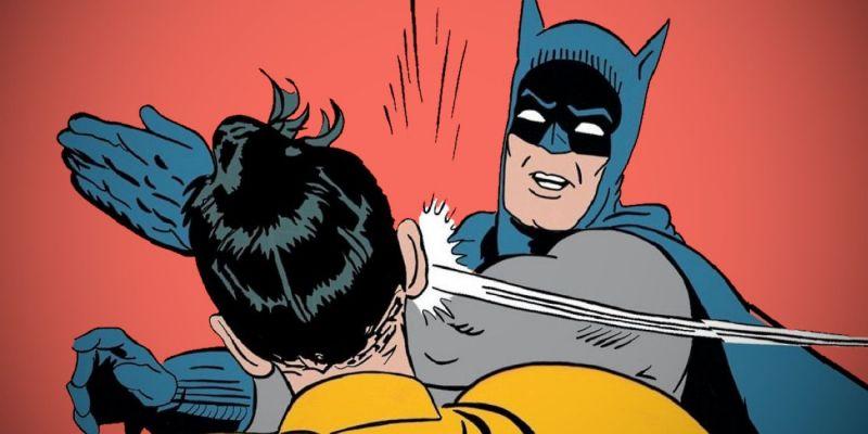 Batman policzkuje Robina - słynny mem oficjalnie istnieje w uniwersum DC