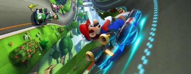 """Zasuwa Mario po torze i nikt go wyprzedzić nie może. Gameplay z """"Mario Kart 8"""""""
