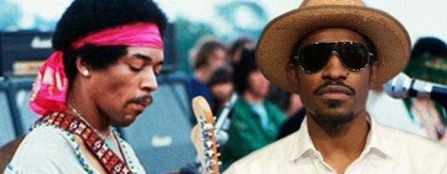 Muzyk z Outkast jako Jimi Hendrix – zdjęcia