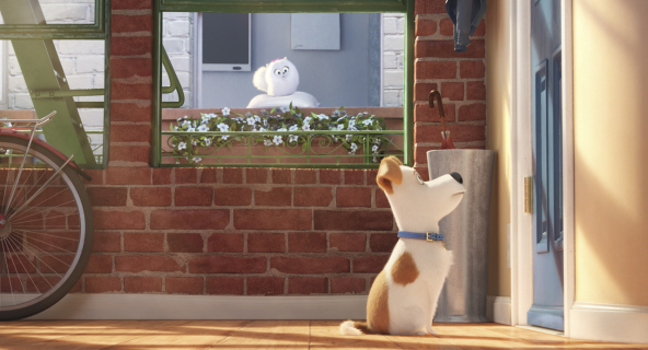 Plakaty z bohaterami Sekretnego życia zwierzaków domowych
