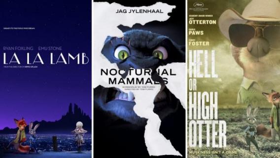Meryl Squek i La La Lamb – obejrzyj zabawne plakaty oscarowych filmów
