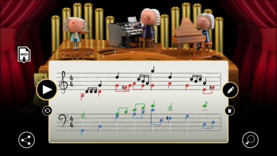 Główny motyw z Gwiezdnych Wojen w wykonaniu Bacha? Świetny Google Doodle