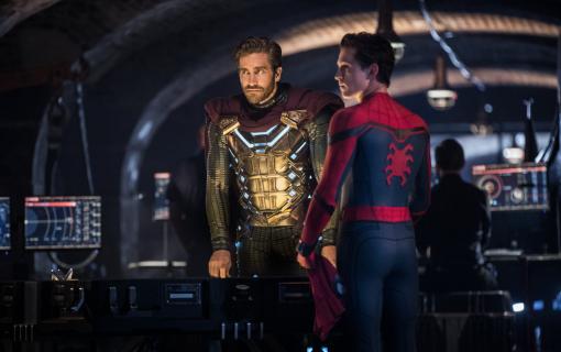 Spider-Man: Daleko od domu - dwa Pajączki, Fury i Mysterio na plakacie IMAX filmu