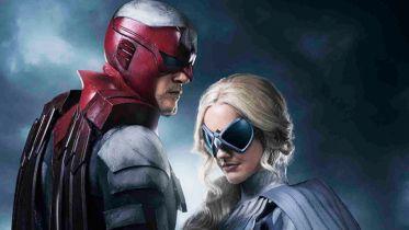 Titans - Hawk i Dove na plakacie promującym 2. sezon serialu DC