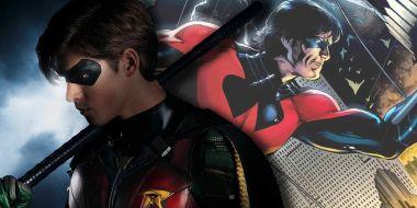 Było z tyłu, to teraz z przodu. Nightwing z Titans i jego strój