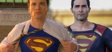 Arrowverse - dwóch Supermanów na planie. Zakulisowe zdjęcie z crossovera