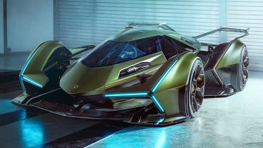 Lamborghini Lambo V12 Vision GT niczym Batmobil. Samochód trafi do Gran Turismo Sport