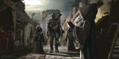The Mandalorian - szkice z 3. odcinka. Figurka wojownika z ciężkim blasterem w sprzedaży