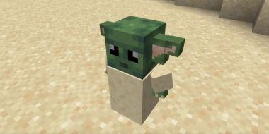 Baby Yoda w grze Minecraft. Zobacz pracę fana