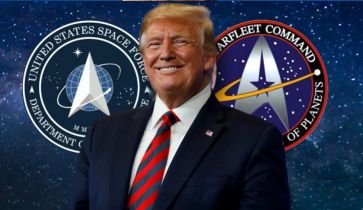 Donald Trump zaprezentował logo US Space Force. Zbyt mocna inspiracja Star Trekiem?