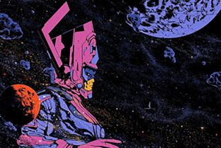 Fantastyczna Czwórka - Marvel promuje herosów. Plakat z Galactusem jest cudowny