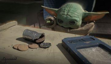 The Mandalorian - ciasteczka Baby Yody w sprzedaży. Szkice koncepcyjne z 4. odcinka
