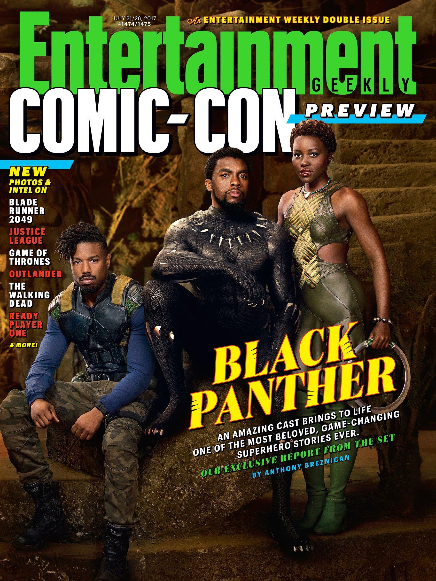 Czarna Pantera - okładka Entertainment Weekly