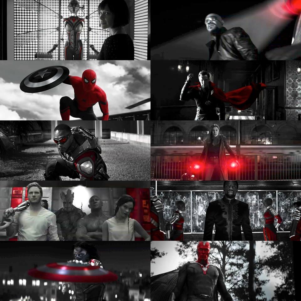 Spot rozpoczyna się od ujęć ukazujących wymazanych herosów; zwróćmy uwagę, że czarno-biały motyw zostaje przełamywany przez kolor czerwony - podobny nieco do tego, który w dalszej części spotu rozświetli twarz Hawkeye'a; internauci spekulują już, że czerwone światło może pochodzić z Wymiaru Kwantowego; istotne jest także ujęcie z Zimowym Żołnierzem, który chwyta tarczę Capa - niektórzy komentatorzy widzą tu symbol zmiany warty w MCU