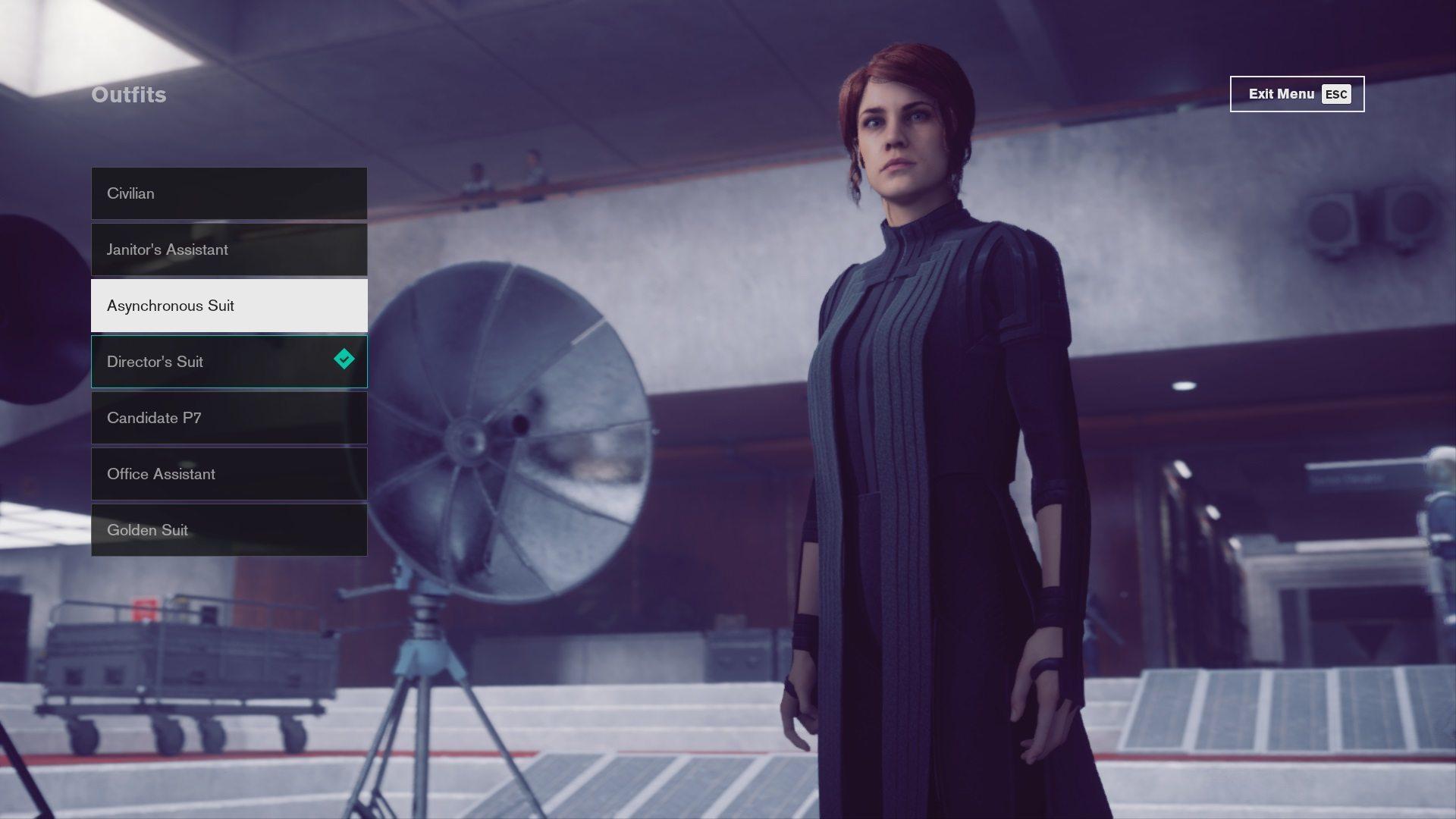 Control Asynchronous Suit - do zdobycia po ukończeniu zadania Self-Reflection. Po jego ukończeniu należy udać się Synchronicity Lab i zabrać strój z manekina.