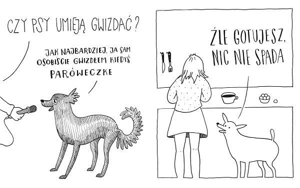 Psie sucharki - rysunek