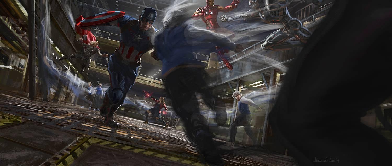 Avengers: Czas Ultrona - szkice koncepcyjne