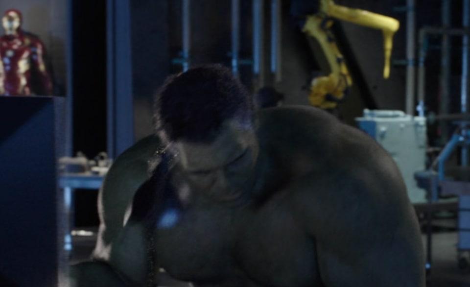 Profesor Hulk w laboratorium Tony'ego - Avengers: Koniec gry