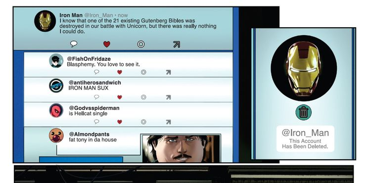 Iron Man usuwa konto na Twitterze