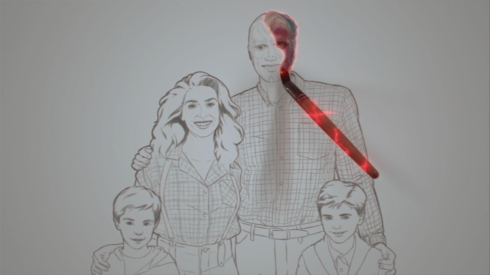 """W 5. odcinku znalazło się kilka zapożyczeń z elementów typowych dla amerykańskich sitcomów z lat 80., głównie takich jak """"Dzieciaki, kłopoty i my"""" (wystrój głównego pomieszczenia), """"Family Ties"""" (rysowanie bohaterów w scenie otwierającej i niezrozumiałe z punktu widzenia widza, ekspresowe dojrzewanie dzieci), """"Pełna chata"""" (biegnąca rodzina w czołówce; pamiętajmy, że w tej produkcji grały także bliźniaczki Olsen, siostry Elizabeth) i """"Zdrówko"""" (stare zdjęcie Westview w sekwencji otwierającej)."""